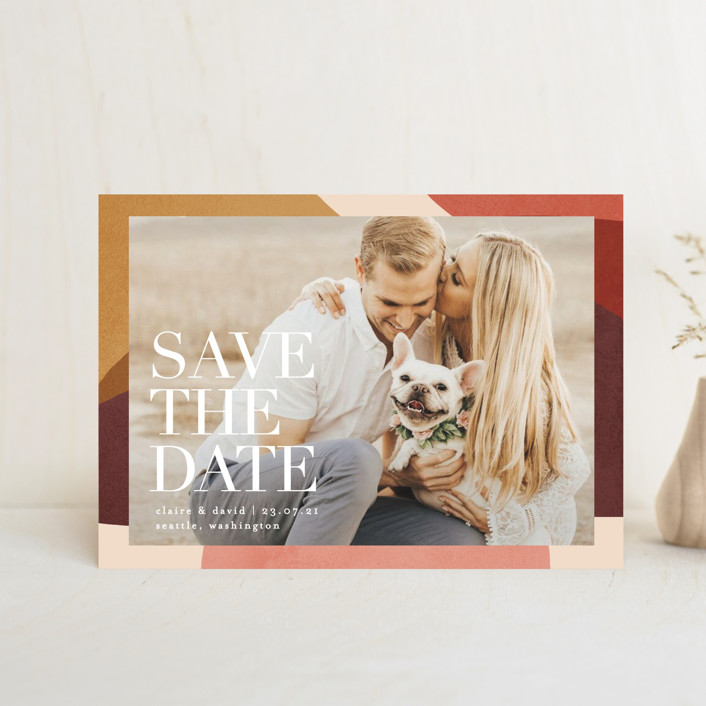 """Galeria"" - Save The Date Postcards in Autumn by Kelly Schmidt."
