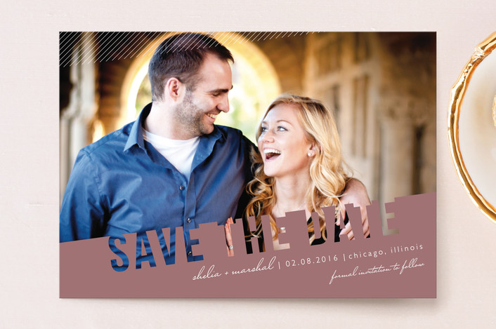 """Simply See Through"" - Modern Save The Date Postcards in Salt & Pepper by Lehan Veenker."