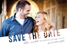 Simply See Through Save the Date Postcards By Lehan Veenker