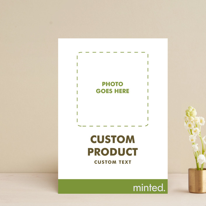 """FOIL Portrait Custom"" - Save The Date Postcards in Charcoal by Minted Custom."