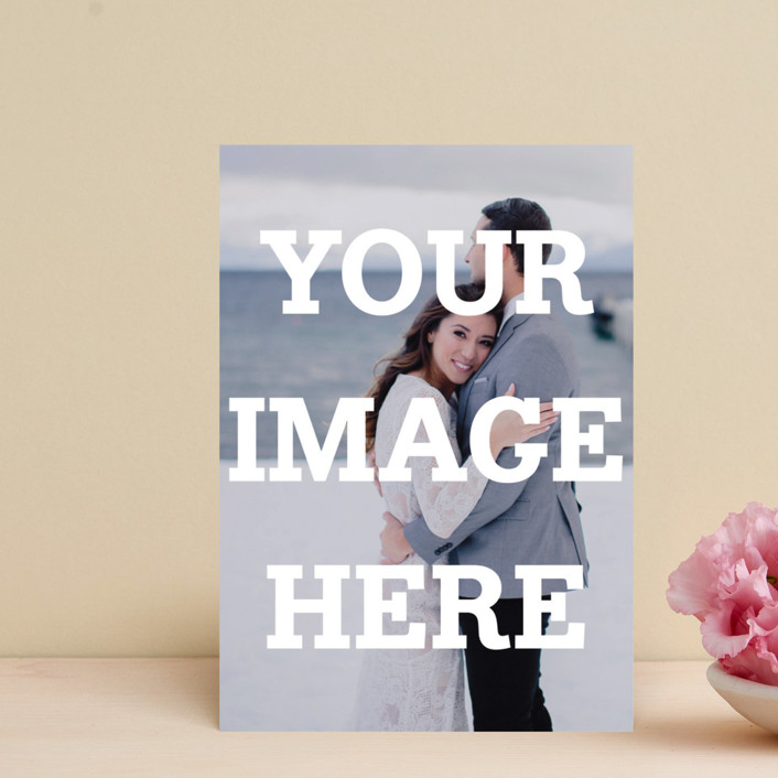 """""""The Big Picture"""" - Save The Date Postcards in Ivory by Minted."""