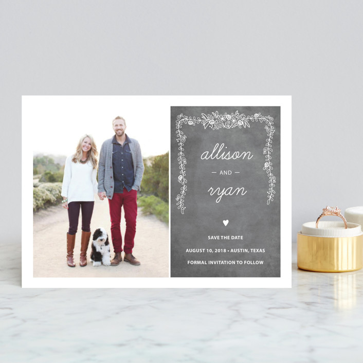 Chalkboard Save The Date Postcards by SimpleTe Design   Minted