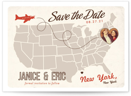 photo of Up And Away Save The Date Postcards