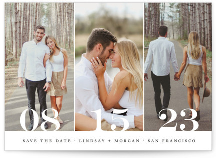 photo of Trio Save The Date Postcards
