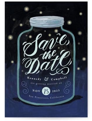 photo of Firefly Mason Jar Save The Date Postcards