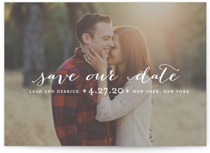 photo of Meet In The Middle Save The Date Postcards