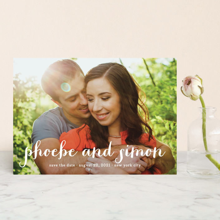 """Prescott"" - Modern Save The Date Postcards in Cotton by Roxy Cervantes."