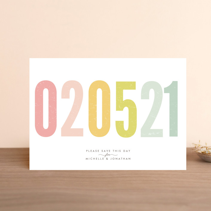 """Ice Cream Parlour Pastels"" - Save The Date Postcards in Pastel by Phrosne Ras."