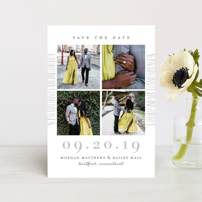 """""""Love Square"""" - Modern Save The Date Postcards in Glacier by Michelle Taylor."""