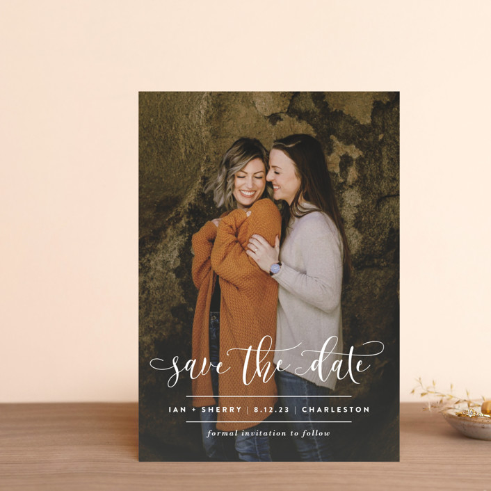 """""""Statement"""" - Save The Date Postcards in Frosting by Lauren Chism."""