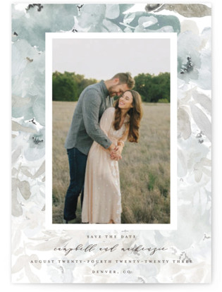 photo of Spring Garden Frame Save The Date Postcards