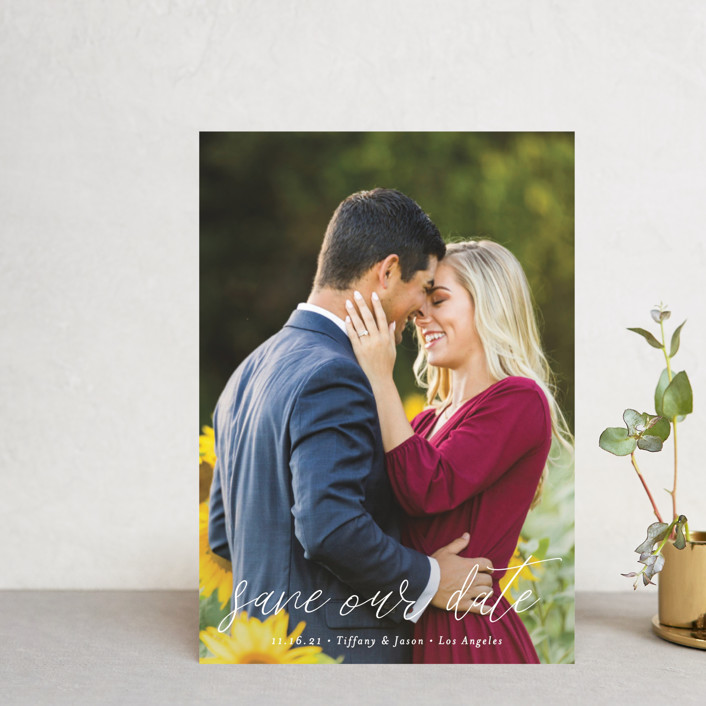 """""""the perfect date"""" - Save The Date Postcards in Linen by Kasia Labocki."""