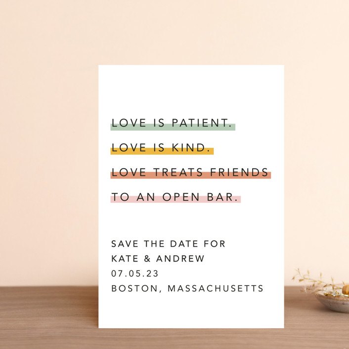 """Love is..."" - Save The Date Postcards in Sobert by Hudson Meet Rose."