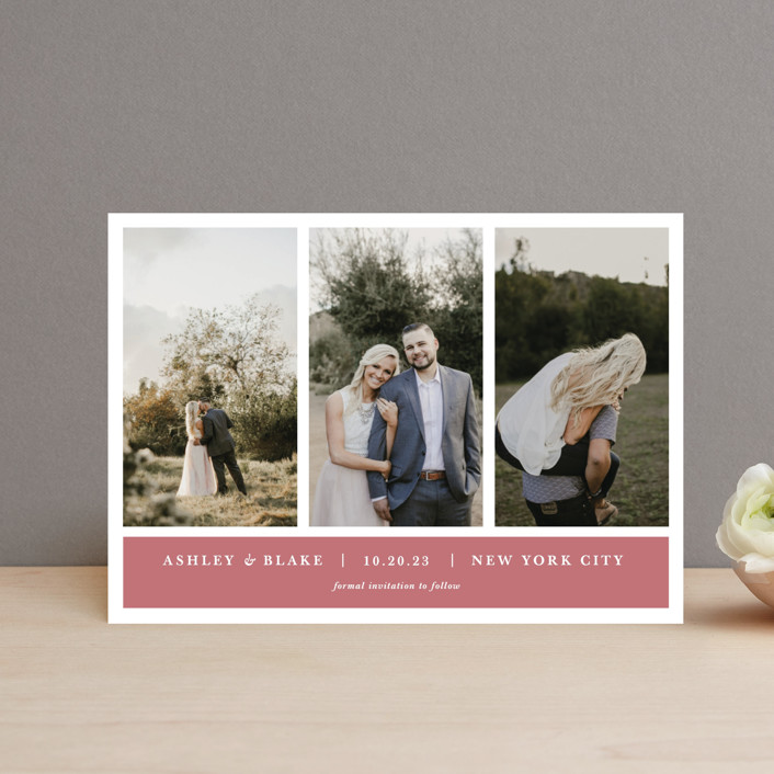 """""""maybe im amazed"""" - Save The Date Postcards in Slate by Jula Paper Co.."""