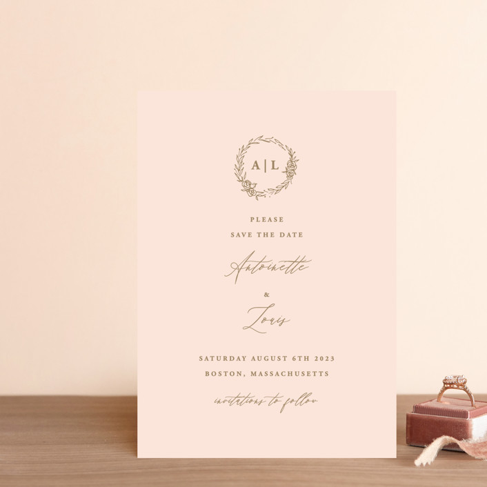 """Antoinette"" - Save The Date Postcards in Ivory by lulu and isabelle."