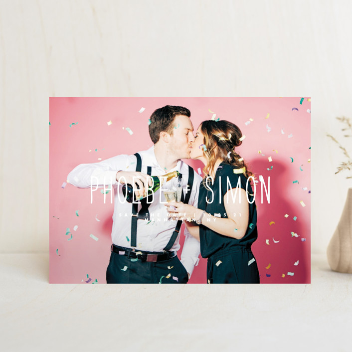 """Me + You"" - Save The Date Postcards in Lily by Roxy Cervantes."