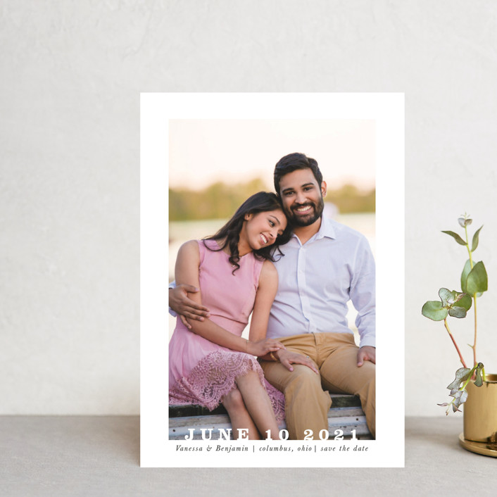 """Coupe"" - Save The Date Postcards in Ivory by Up Up Creative."