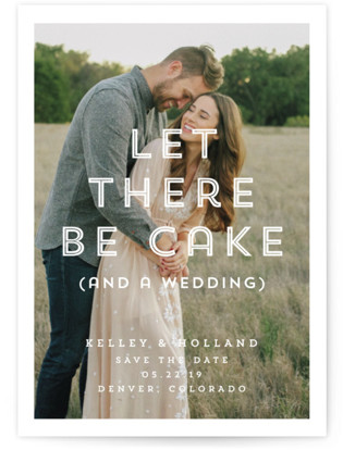Cake (and a Wedding) Save the Date Postcards