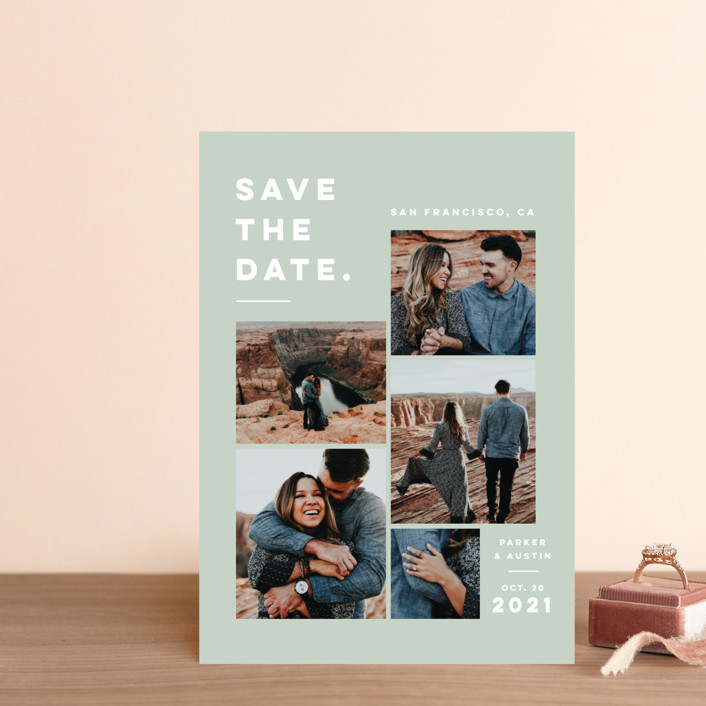 """""""Merry All Year."""" - Save The Date Postcards in Eucalyptus by Pink House Press."""