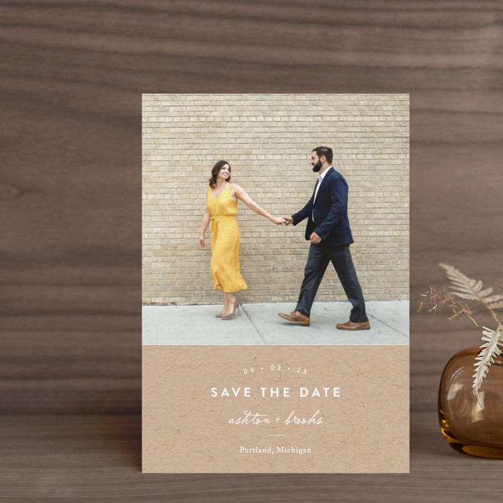 """""""This Modern Love"""" - Save The Date Postcards in Onyx by Chryssi Tsoupanarias."""