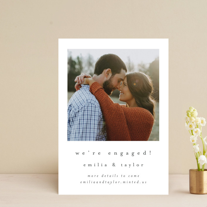 """""""meant to be"""" - Save The Date Postcards in Ebony by Angela Thompson."""