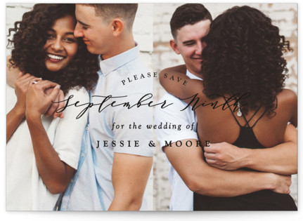 photo of New Style Save The Date Postcards