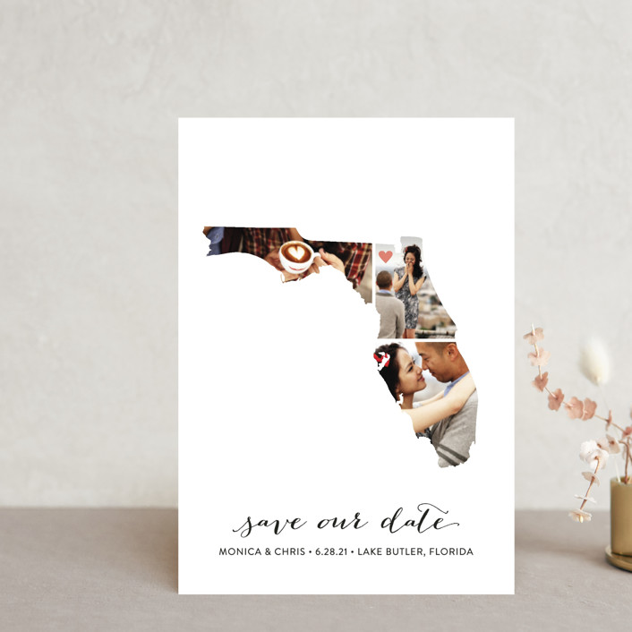 """""""Florida Love Location"""" - Save The Date Postcards in Wedding Dress by Heather Buchma."""
