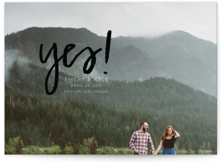photo of Excitement Save The Date Postcards