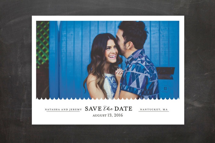"""""""Shore Thing"""" - Modern, Simple Save The Date Postcards in Onyx by lena barakat."""