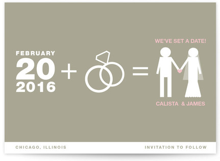 Matrimony Save the Date Postcards