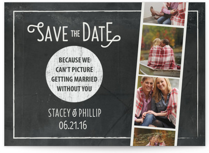 Chalkboard Photo Booth Save the Date Postcards