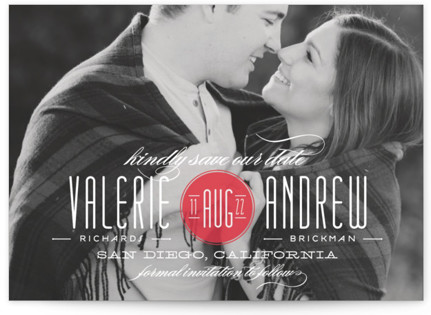 photo of Twine Save The Date Postcards
