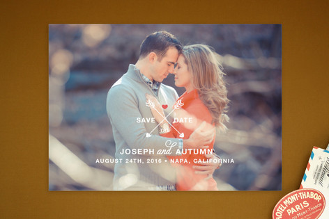 Arrows of Love Save The Date Postcards