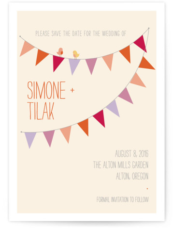 This is a portrait rustic, whimsical, orange Save the Dates by ZucchiniPress called Barn Party with Standard printing on Signature in Postcard Flat Card format. Smart and chic, our indie designed postcards let you announce your wedding date while saving ...