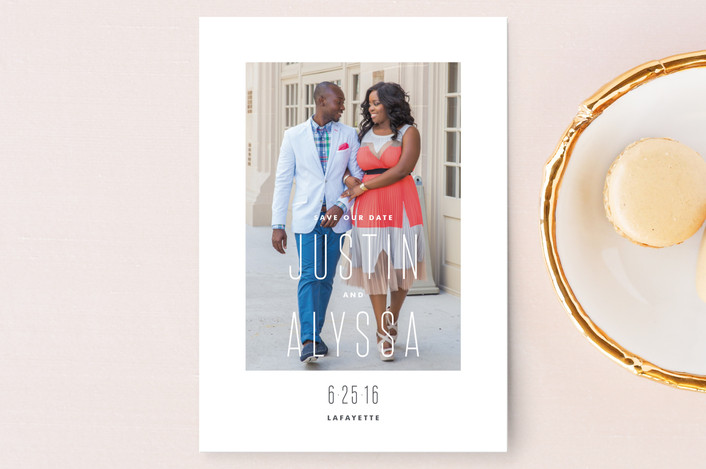"""City Chic"" - Modern Save The Date Postcards in Pure by Kristie Kern."