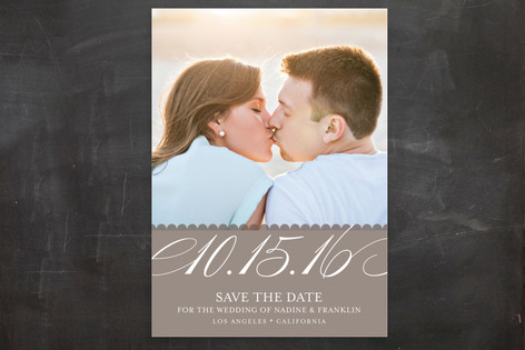Elegant Year Save The Date Postcards