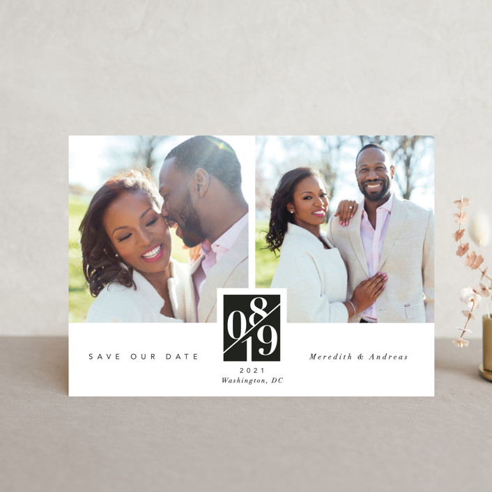 """""""classic love story"""" - Save The Date Postcards in Tuxedo by Susanne Kasielke."""