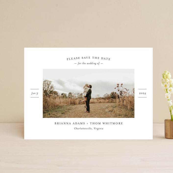 """""""More Than a Crush"""" - Save The Date Postcards in Ebony by Ann Gardner."""