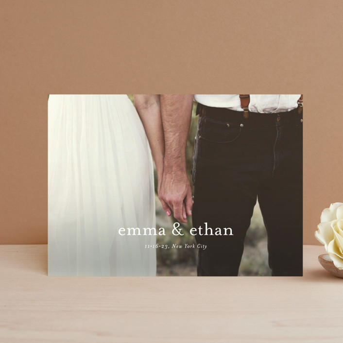 """""""Just Love"""" - Save The Date Postcards in Cotton by Kasia Labocki."""