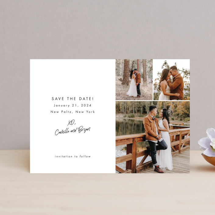 """""""Signed and Sealed"""" - Save The Date Postcards in Snow by Sandra Picco Design."""