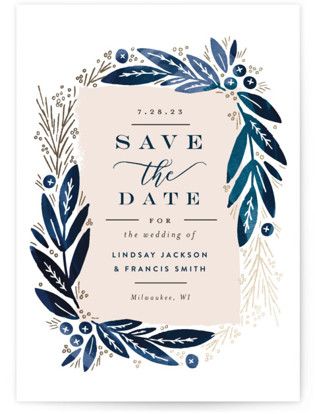 Leaf Frame Save the Date Postcards
