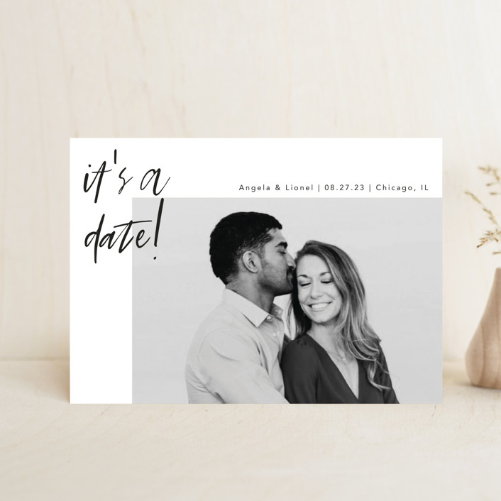 """""""A Date"""" - Save The Date Postcards in Ink by lulu and isabelle."""