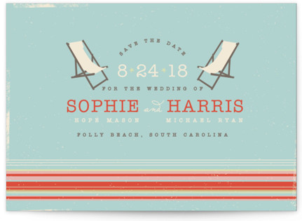 photo of Vintage Beach Save The Date Postcards