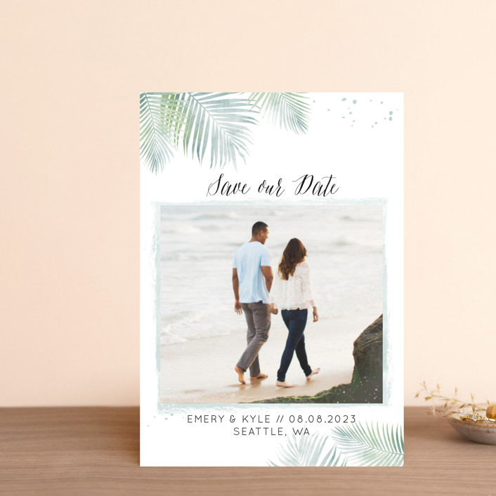 """Sunny Wedding"" - Save The Date Postcards in Seafoam by My Splendid Summer."