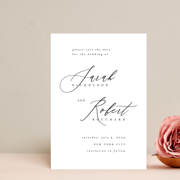 """""""Corison"""" - Save The Date Postcards in Classic by Kelly Schmidt."""