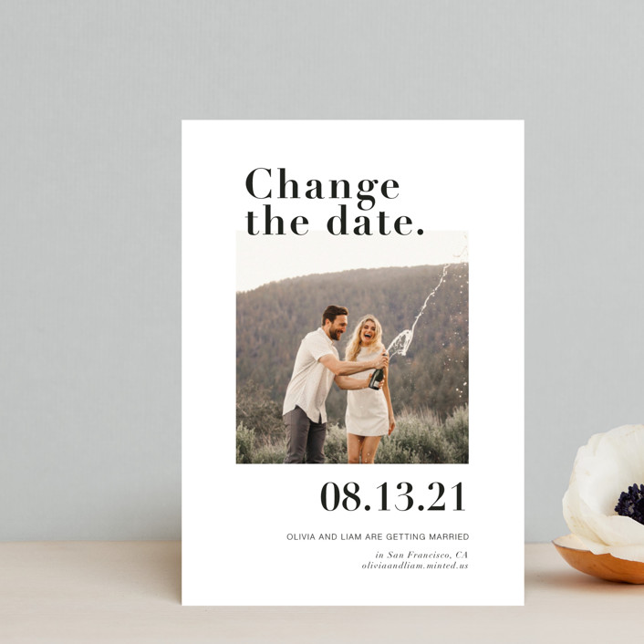 """""""It's a Date!"""" - Save The Date Postcards in Onyx by Joyce Pinheiro."""