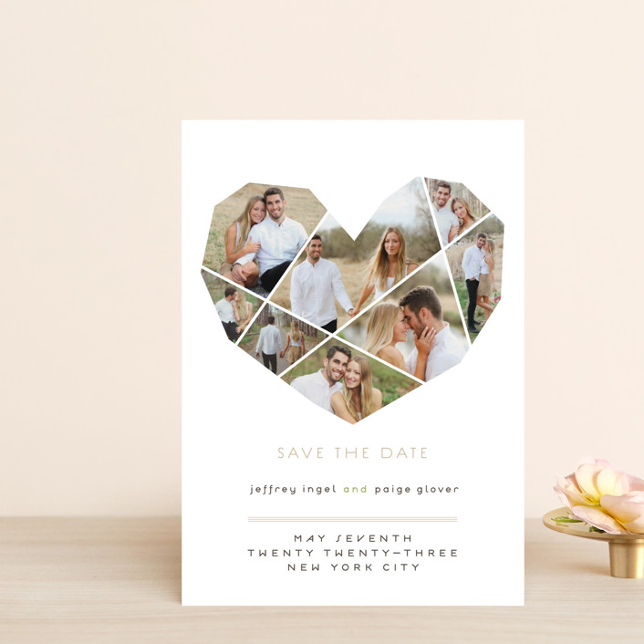 """Complete Love"" - Save The Date Postcards in Camel by fatfatin."