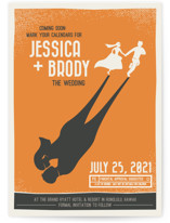 Retro Movie Poster Save The Date Postcards