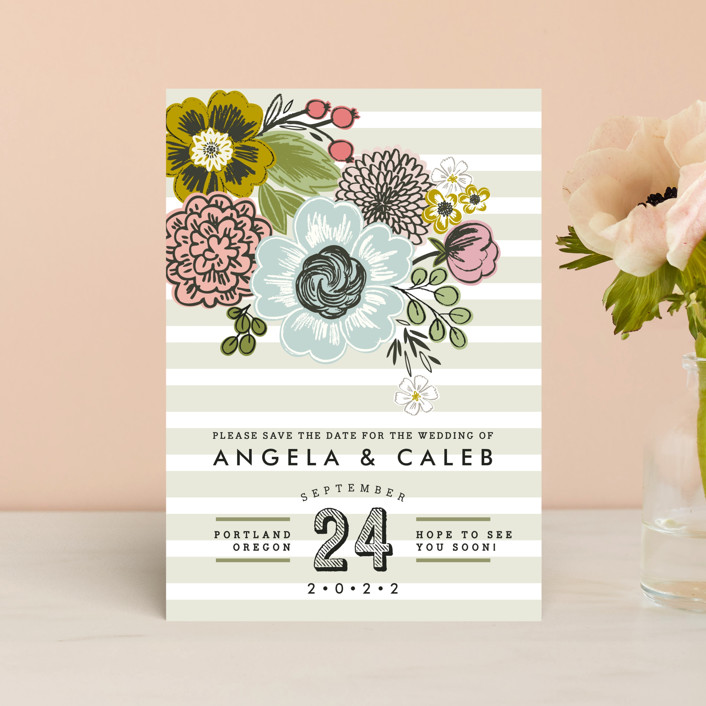 """Seed Packet"" - Save The Date Postcards in Sand by Alethea and Ruth."