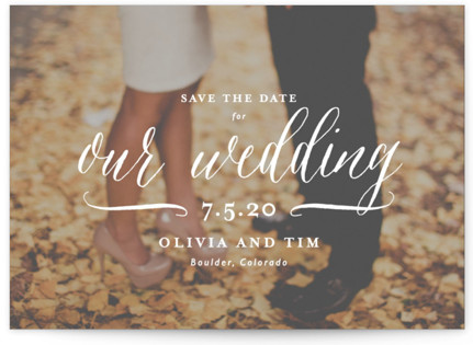 Postcard Perfect Save the Date Postcards